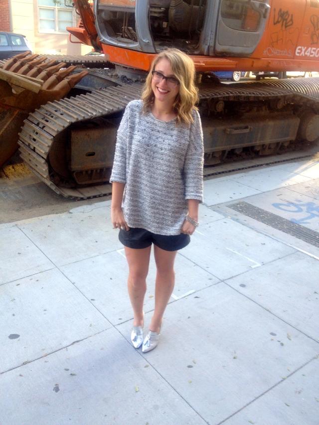 Sweater: H&M   Shorts: H&M   Shoes: H&M   Bracelet: F21