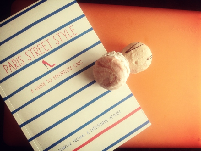 Perfect way to end a weekend. Macaroons & a killer book.