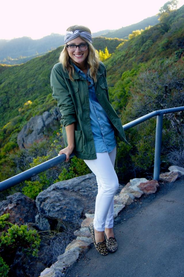 Jacket: Gap | Denim Shirt: F21 | Pants: H&M | Shoes: Sam and Libby