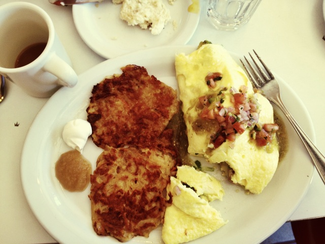 Any good weekend starts and ends with brunch, right? Some killer latkes right hur at Homeplate!
