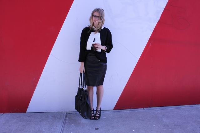 Shirt: F21 | Sweater: F21 via Crossroads Trading | Skirt: F21 | Shoes: Talbot's