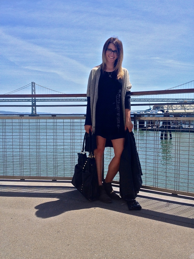Jacket: Rachel by Rachel Roy | Dress: F21 via Crossroads Trading | Shoes: F21